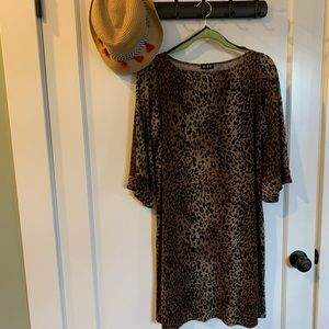 NWOT Cheetah Midi Dress